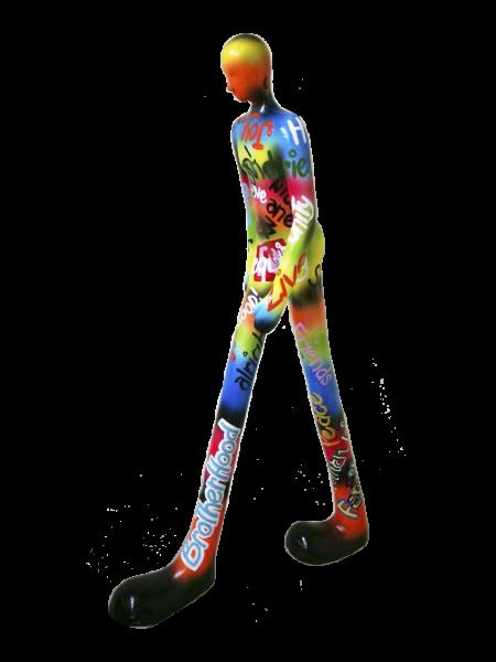 GIA MAN walking xxl 110x65cm GRAFFITI Color C