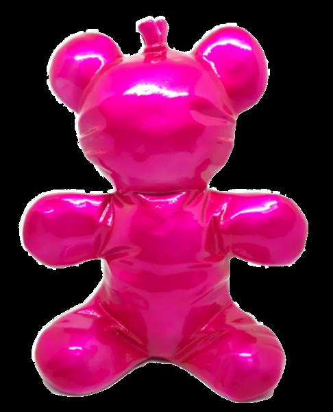 "Balloon ""Knautsch"" Bear 22x19cm ""metallic pink"" color E"