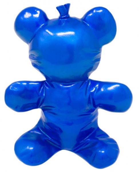 "Balloon ""Knautsch"" Bear 22x19cm ""metallic blue"" color C"