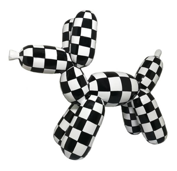 Balloon Dog large 40x50cm Black/White Color B