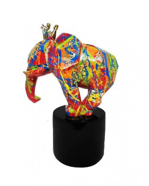 Elephant King Jumbo 15x20cm Decopauge Color B