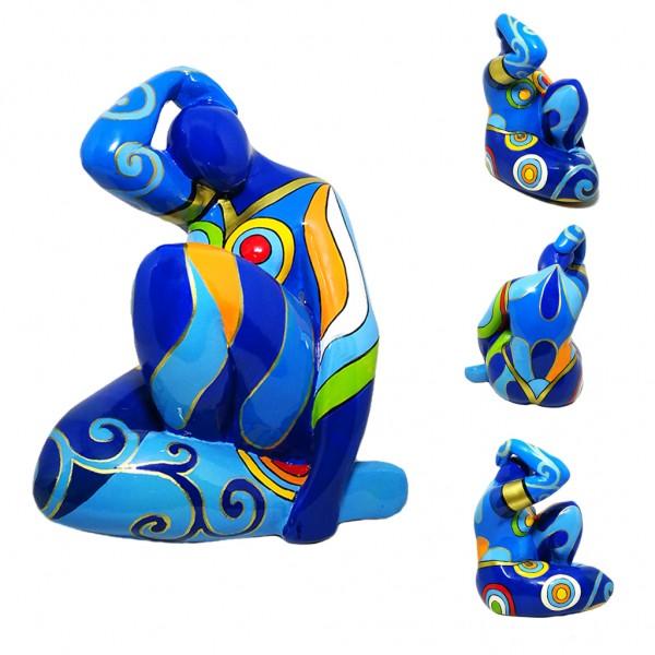 Blue Lady Matisse sitting 17x14cm