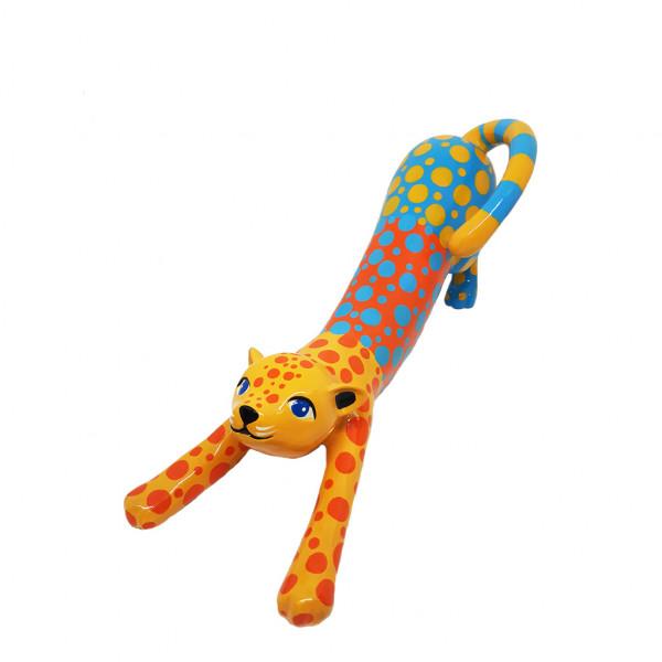 Stretching Cat medium 14x35cm PopArt Color H