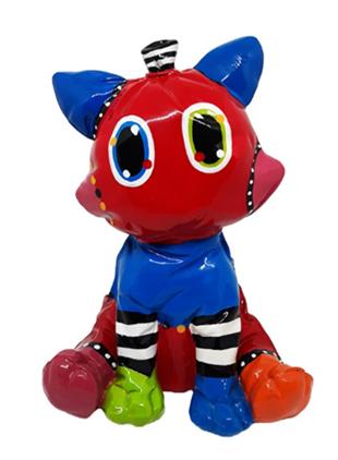 "Balloon ""Knautsch"" Cat sitting 21x16cm multicolor A"